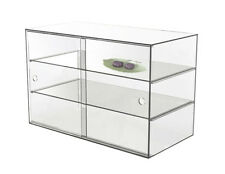 LARGE  ACRYLIC DISPLAY CABINET CAKE BAKERY MUFFIN DONUT PASTRIES 58x33x40cm,5mm