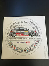 AUTOCOLLANT 206 WRC 2000 2001 GOODIES PUB COLLECTOR CHAMPION MONDE DES RALLYE