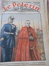 Le Cardinal Verdier avec le Général Gouraud Print 1936