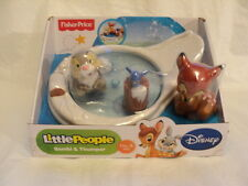 NEW Disney Little People BAMBI & THUMPER Animal Figure Ice Skating Toy Play Set