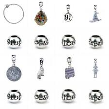 Official Genuine Harry Potter Silver Plated 15 Charms & FREE Bracelet (Medium)