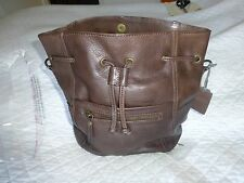 FAT FACE Leather Slouchy Duffle Bag Brown - BNWT