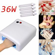 USA 4 Tube Lamp 36w UV Nail Polish Timer Dryer GEL Acrylic Curing Light Spa Kit