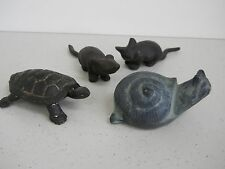 Cast Iron Mice Mouse Nambu ? Turtle Virginia Metalcrafters Snail Paperweight