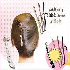 Magic TWIST N CLIP For Women Hair 4 Hairpin Clips + 1 Tassel Tail New Styles LJ