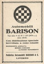 W9129 Fabbrica Automobili BARISON - Livorno - Pubblicità del 1923 - Vintage ad