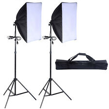 2 PCS Lighting Softbox Stand Photography Photo Equipment Soft Studio Light Kit