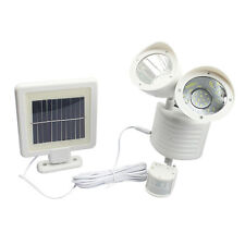 Dual LED Security Motion Sensor Light Solar Outdoor Garden Floodlight Spot Lamp