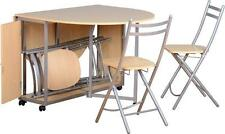 BUDGET BUTTERFLY DINING SET BEECH TABLE & 4 CHAIRS NEW *FREE NEXT DAY DELIVERY
