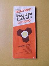 1971-1972 ROAD MAP BREWERS RETAIL ONTARIO WHERE TO BUY BEER  ALE STORE DIRECTORY