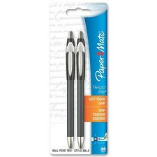 Paper Mate Flexgrip Elite Retractable Ballpoint Pen, Black Ink 2 ea