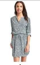 Gap Print Popover Shirtdress White Print S NWT 59.95 Sold Out Size