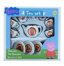 PEPPA PIG PORCELAIN TEA SET CUPS PLATES DRINKING 13 PIECES TOYS GAMES KIDS NEW