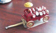 Vintage Small Lead Beer Wagon with Umbrealla and Barrels