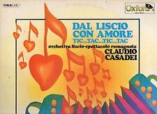 CLAUDIO CASADEI ORCHESTRA disco LP 33 g. DAL LISCIO CON AMORE made in ITALY 1976