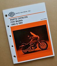FXR 1982-83 Harley FXR FXRS FXRT  Parts Catalog Manual Book