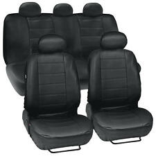 ProSyn Black Leather Auto Seat Covers for Chevrolet Malibu Full Set Car Cover