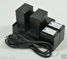 4 4.5A Battery+Dual Charger for Sony NP-FV30 NP-FV50 NP-FV70 NP-FV100 HDR-PJ820E