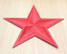 NEW RED STAR RUSSIA FLAG COMMUNIST SYMBOL EMBROIDERED IRON ON PATCH SHIRT PO249