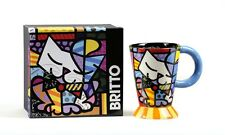 ROMERO BRITTO CERAMIC BOXED MUG- CAT DESIGN