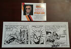 Spider-Man Punisher Daily Comic Strip Original Art SIGNED by Stan Lee/Saviuk COA
