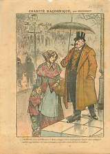 Caricature Anti Francs-Macons/Maçonnerie Indigents Needy Paris 1911 ILLUSTRATION