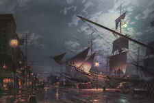 John Stobart Print - New York: East River Arrival c. 1884