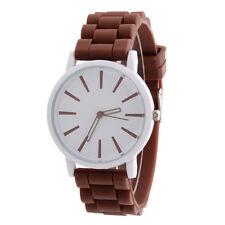 Brand Unisex Silicone Rubber Watch Men's Quartz Analog Sports Wrist Watch Women