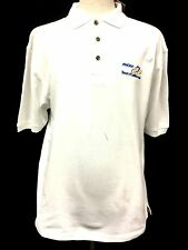 Amgen Tour of California Antigua White Mens Polo Golf Shirt Bicyle Cycling R6 Md