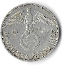 Rare Old Vintage WW2 German Silver 1937 WWII Nazi Germany Eagle Dollar WAR Coin