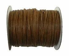 Rockin Beads 80 Yards Brown Waxed Cotton Cord 2mm to 3mm for Bracelet/ Necklace