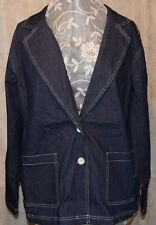 LINEA BY LOUIS DELL'OLIO STRETCH CORDUROY/CORDED DENIM BLAZER JACKET NAVY 2X NEW