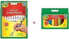 My First Crayola Bundles 8 Easy Grip Jumbo Decorated Pencils + 8 Jumbo Crayons