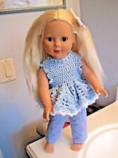 "Madame Alexander Doll 18"" PLAY DOLL Platinum Hair Blue Eyes With Outfit"