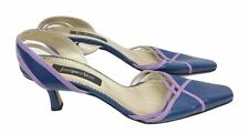 JACQUES VERT Shoes Size 8 Court Shoes Blue w/Purple Designer Wedding