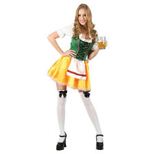 Womens Sexy German Bavarian Oktoberfest Beer Maid Fancy Dress Party Costume - S