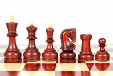 "Bud Rose Wood Zagreb Staunton Wooden Chess Set Pieces King size 4"" with Box"