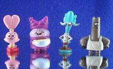 NEW CARTOON NETWORK MINI FIGURE SET (4) CHOWDER, MUNG DALL,SHNITZEL & PANINI