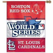 ST. LOUIS CARDINALS - BOSTON RED SOX ~ 2013 World Series House Flag Banner