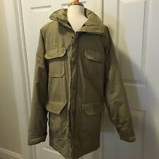 WOOLRICH Hooded Medium M Mountain Parka Coat Made In USA VTG