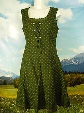 PERRY 70er orig.Vintage mit Feinmuster langes Dirndl ohne Schürze -DK384- Gr.44