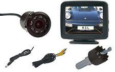 Rückfahrkamera  170 ° Blickwinkel - 18mm CAM - IR LED´s, inkl. Monitor 3,5 Zoll