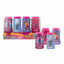 Dreamworks Trolls 4X Pack Bath & Shower Gel Christmas Gift Set For Girl`s New