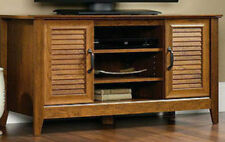 TV Stand Entertainment Media Center Flat Screen Storage Console Wood