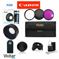 Wide Angle Macro Lens +REMOTE+LENS HOOD+FILTERS For CANON EOS REBEL T3 T3I T4 T5