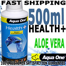 Aqua One Aquarium Fish Health + Plus Water Conditioner Stress Coat + Aloe 500ml