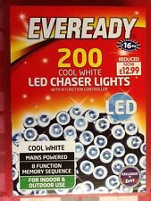 Eveready 200 cool white LED Chaser Lights. Brand new.