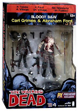 McFarlane Walking Dead Comic Series 4 Carl Grimes & Abraham figure 2 pack PX Exc