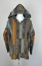 VTG RETRO AZTEC URBAN RENEWAL TRIBAL NAVAJO OVERHEAD FESTIVAL JACKET TOP  10-12