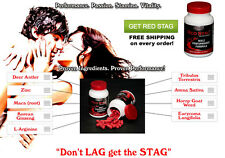 Red Stag Deer Antler Max Horny Goat Weed Testosterone Booster Two Months Supply!